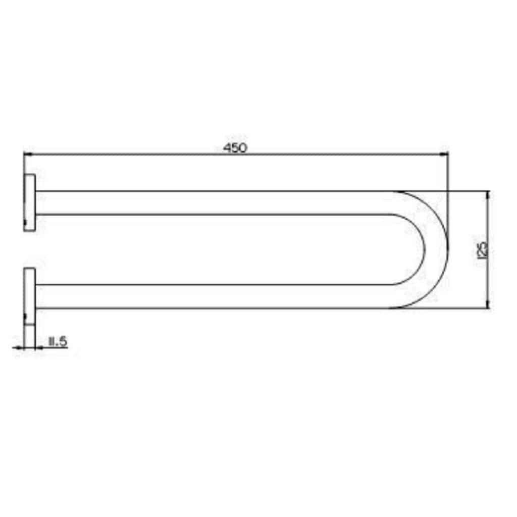 Provex Doppelhandtuchhalter »Serie 100«, 450 mm Länge