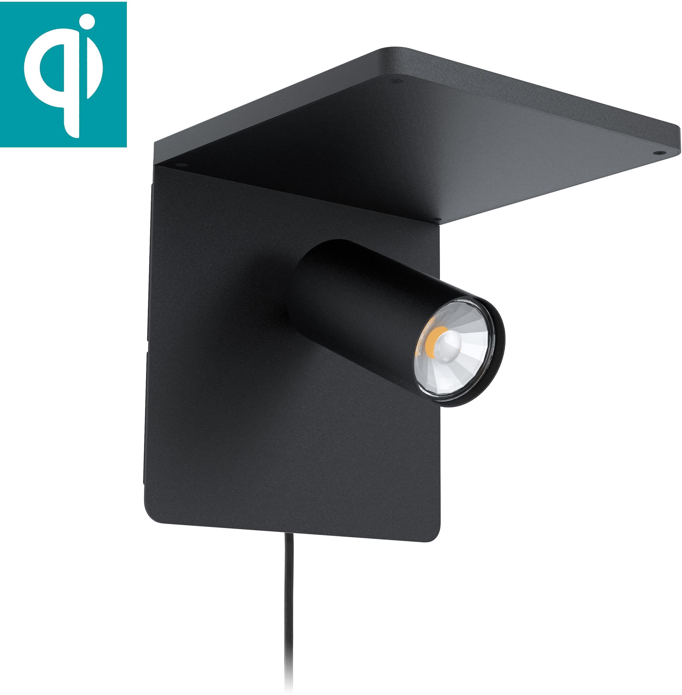 EGLO Wandleuchte CIGLIE, GU10, Warmweiß, QI-charger