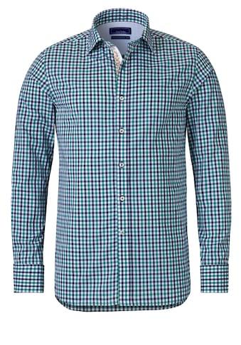 East Club London Langarmhemd mit klassischem Karomuster kaufen