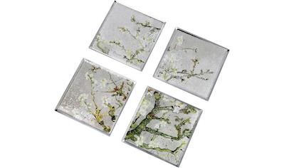 """Goebel Glasuntersetzer »Vincent van Gogh - """"Mandelbaum silber""""«, (Packung, 4 tlg.),... kaufen"""