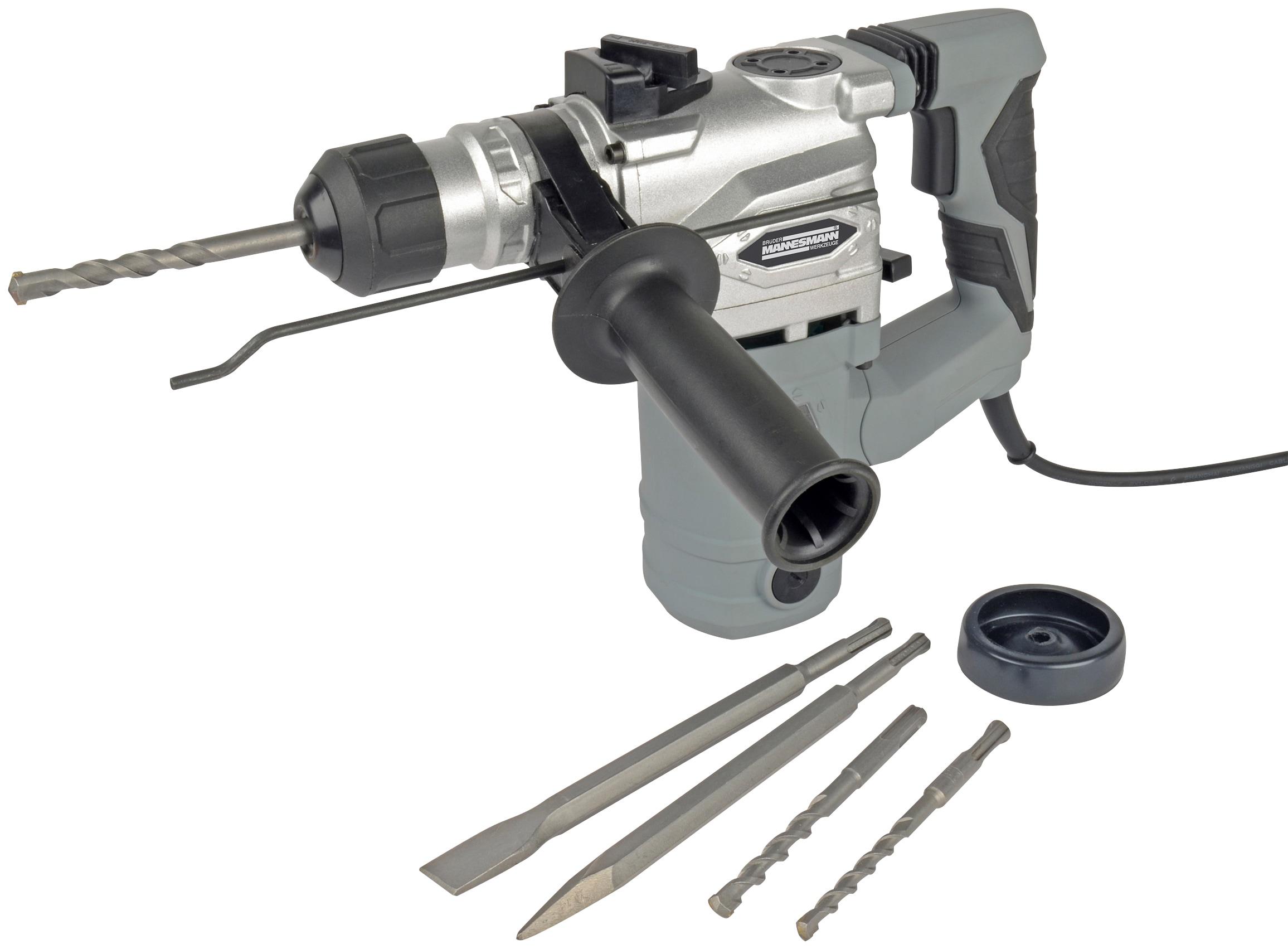 Brüder Mannesmann Werkzeuge Bohrhammer 1500W grau Bohrhämmer Werkzeug Maschinen