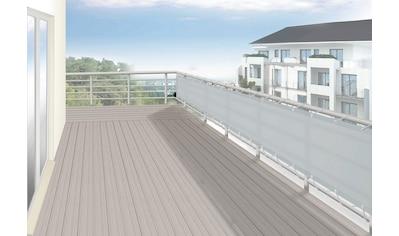 FLORACORD Balkonsichtschutz BxH: 500x65 cm, silbergrau kaufen