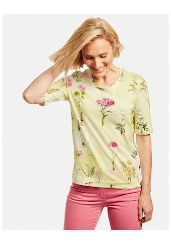 GERRY WEBER Kurzarmshirt »Blumiges Shirt organic cotton« kaufen
