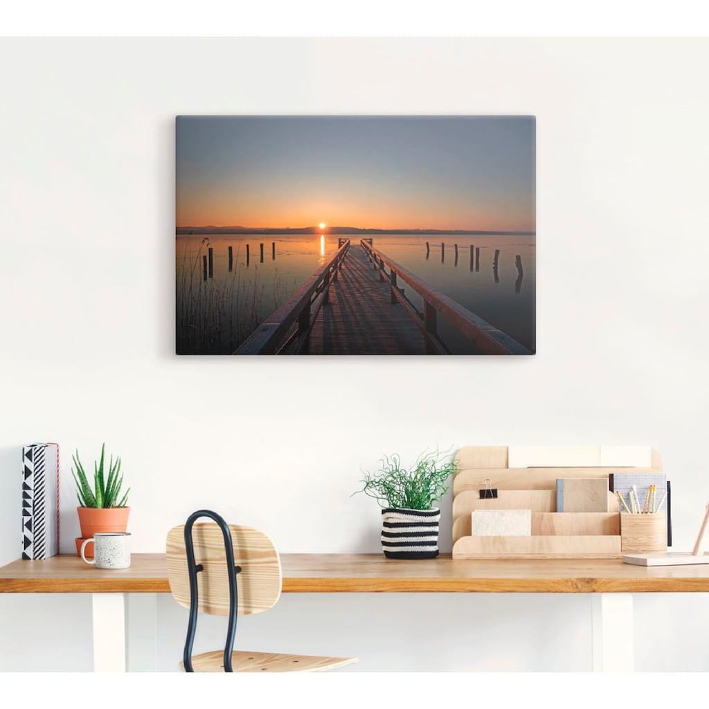 Artland Wandbild »Traumhafter Morgen am Ratzeburger See«, Sonnenaufgang & -untergang, (1 St.), in vielen Größen & Produktarten - Alubild / Outdoorbild für den Außenbereich, Leinwandbild, Poster, Wandaufkleber / Wandtattoo auch für Badezimmer geeignet