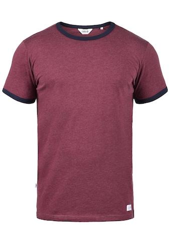 Solid Rundhalsshirt »Manoldo«, T-Shirt mit farblich abgesetztem Kragen und Ärmelsaum kaufen