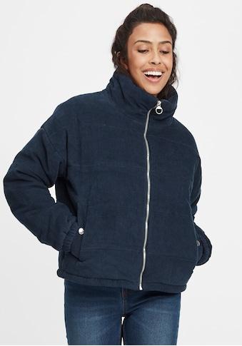 OXMO Steppjacke »Videtta«, Kurze Cordjacke mit Stehkragen und Detail-Zipper kaufen