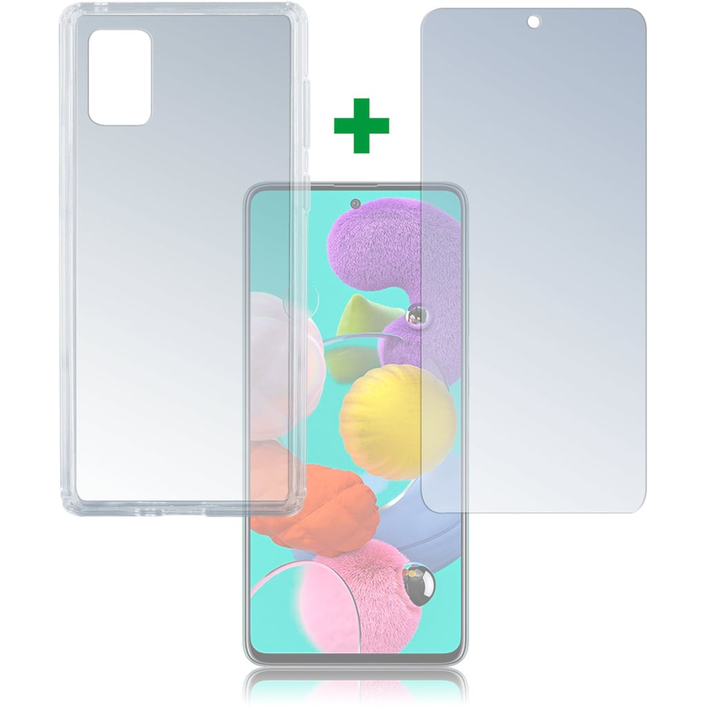 4smarts Handyhülle »360° Protection Set Limited Cover Galaxy A51«, Cover