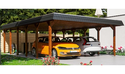 Skanholz Doppelcarport »Spreewald«, Fichtenholz, 530 cm, braun kaufen