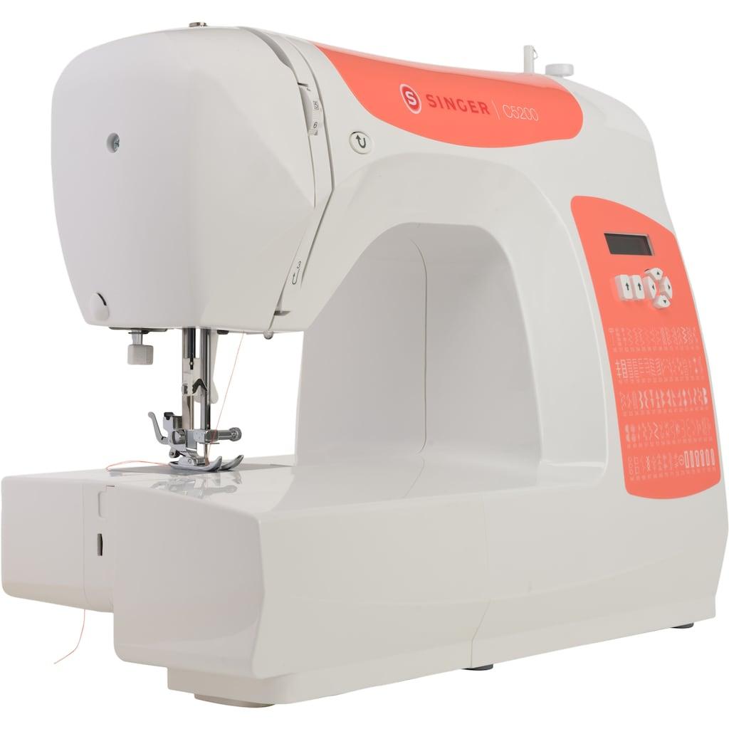 Singer Computer-Nähmaschine »C5205 Orange«, 60 Programme