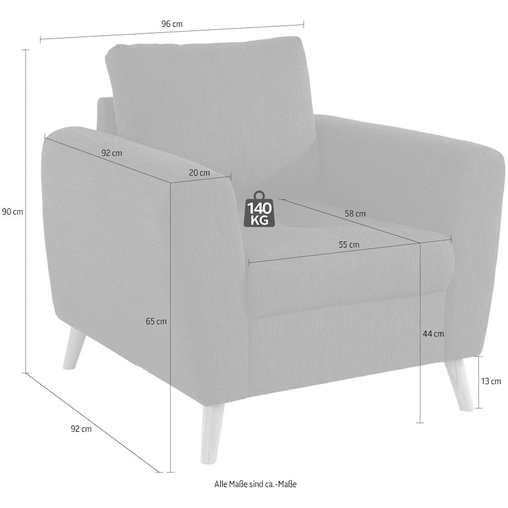 andas Sessel »Blackburn Luxus«, mit besonders hochwertiger Polsterung für bis zu 140 kg Belastbarkeit