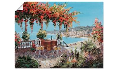 Artland Wandbild »Macht mein Tag perfekt«, Gewässer, (1 St.), in vielen Größen &... kaufen