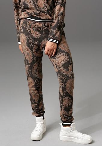 Aniston CASUAL Jogginghose, mit gestreiften Bündchen - NEUE KOLLEKTION kaufen