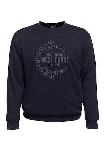 AHORN SPORTSWEAR Sweatshirt mit lässigem Frontprint 3118733 kaufen