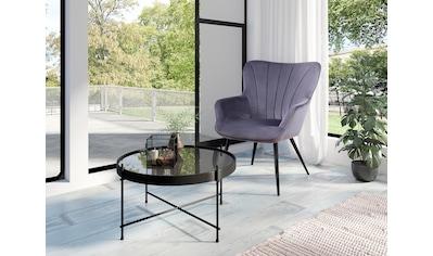 Homexperts Sessel »LEXI«, Sessel mit Ziernaht im Rücken kaufen
