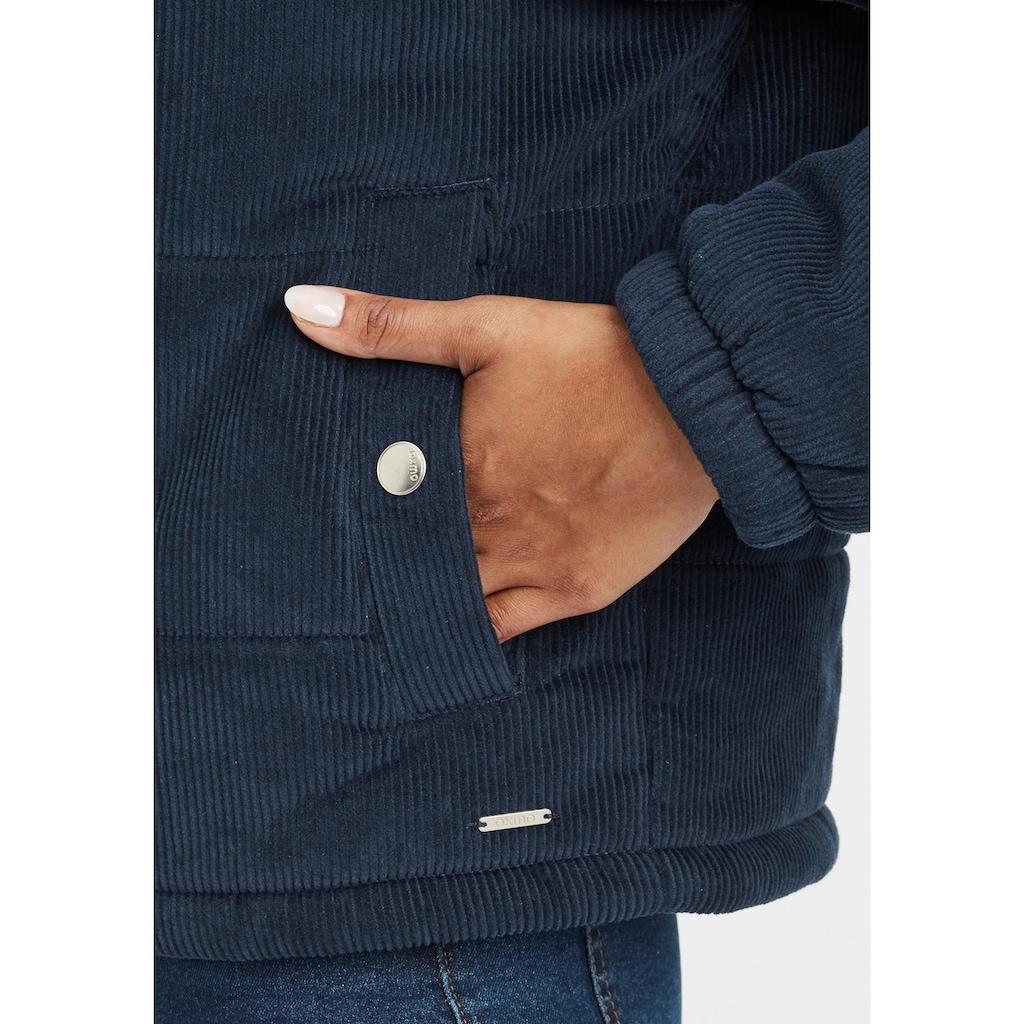 OXMO Steppjacke »Videtta«, Kurze Cordjacke mit Stehkragen und Detail-Zipper