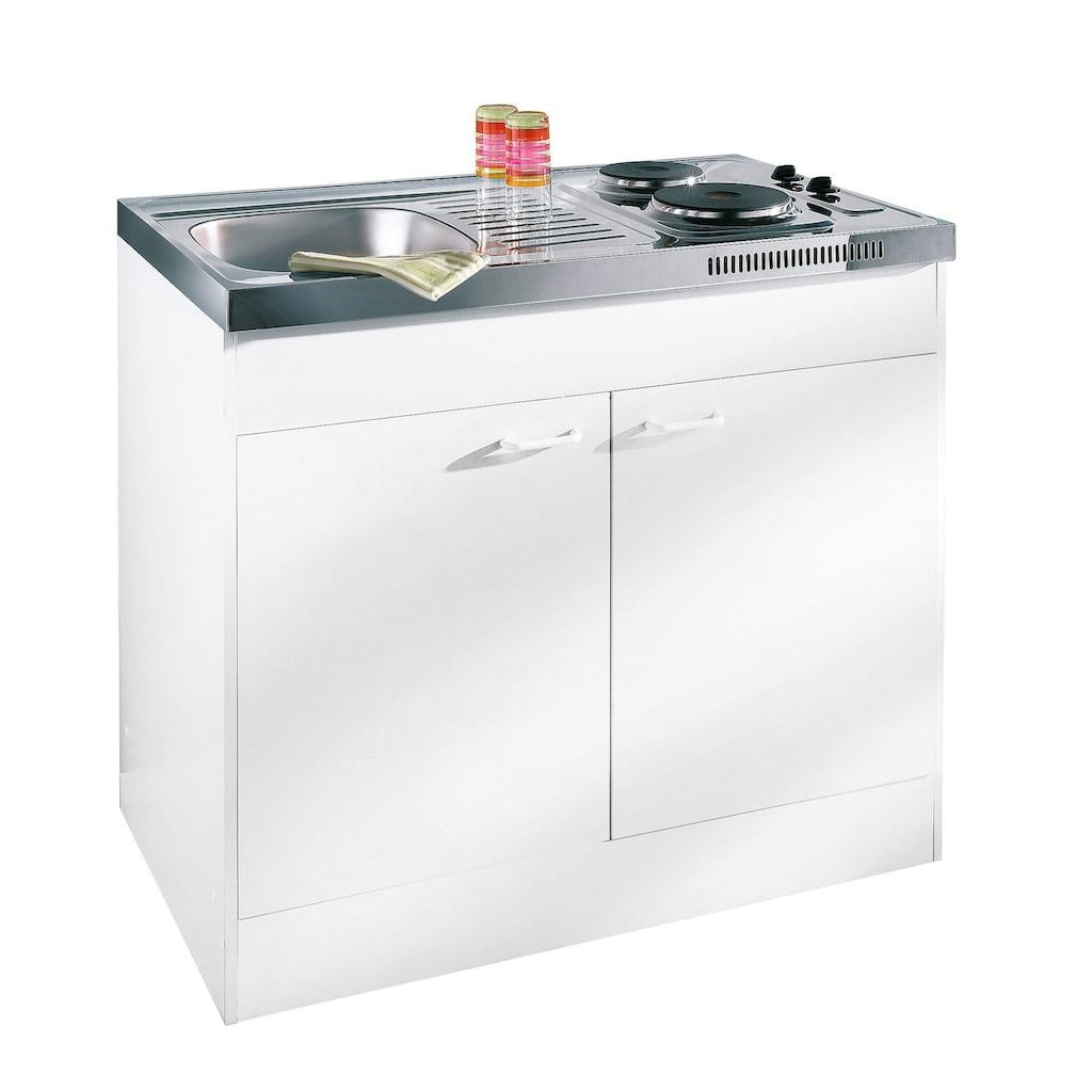 RESPEKTA Miniküche, mit Duo-Kochmulde