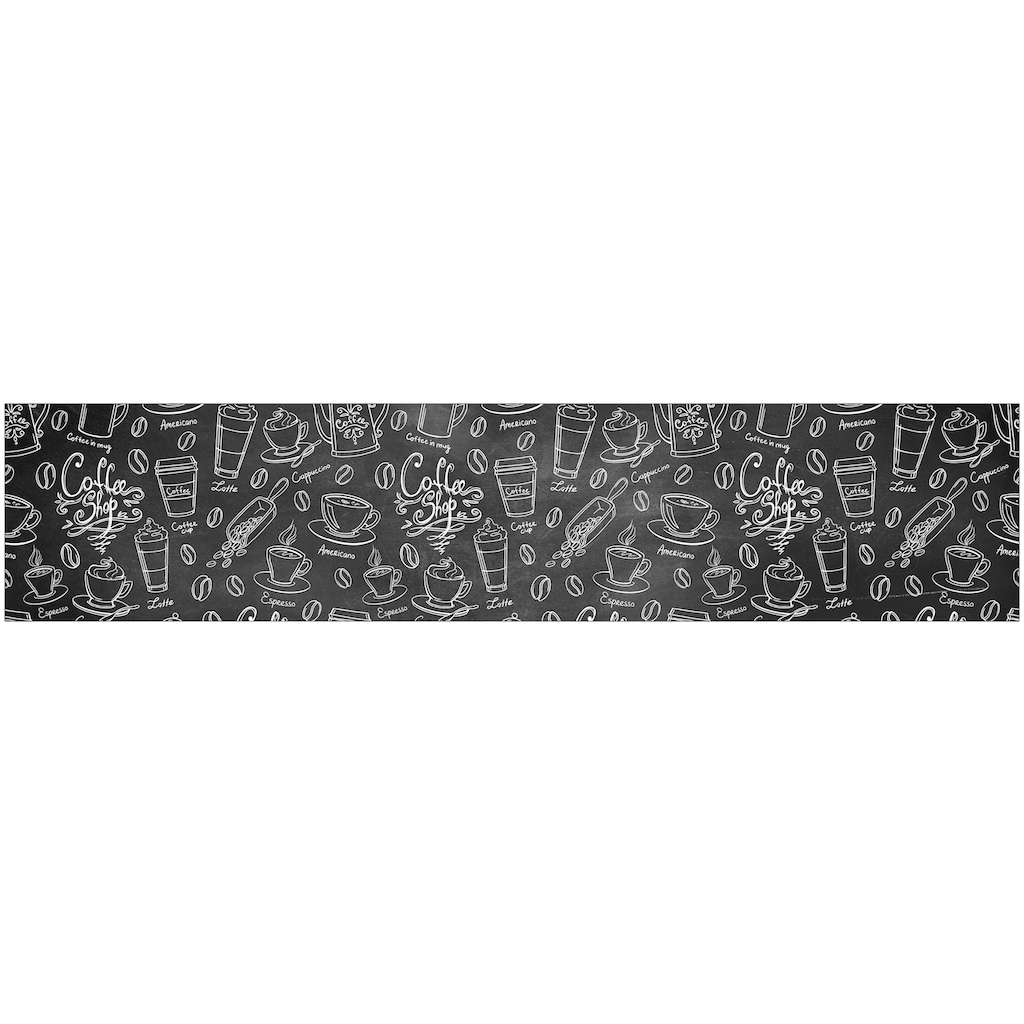 MySpotti Küchenrückwand »fixy Coffee Pattern«, selbstklebende und flexible Küchenrückwand-Folie