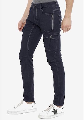 Cipo & Baxx Slim-fit-Jeans, mit Seitentaschen kaufen