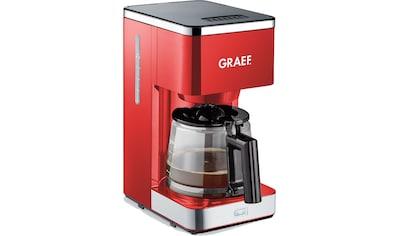 Graef Filterkaffeemaschine »FK 403«, Papierfilter, 1x4, mit Glaskanne, rot kaufen