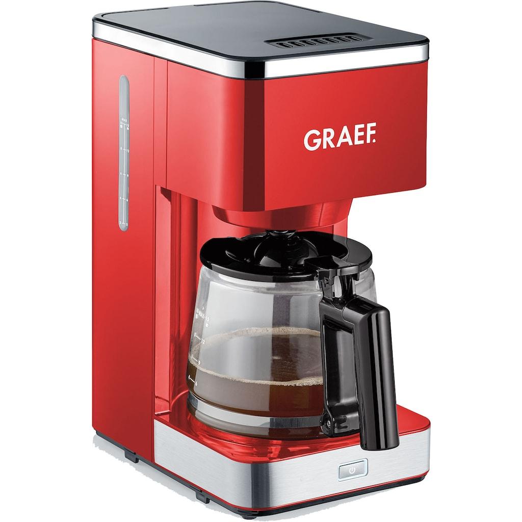 Graef Filterkaffeemaschine »FK 403«, Papierfilter, 1x4, mit Glaskanne, rot