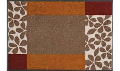 wash+dry by Kleen-Tex Fußmatte »Florita«, rechteckig, 7 mm Höhe, Schmutzfangmatte, In-... kaufen