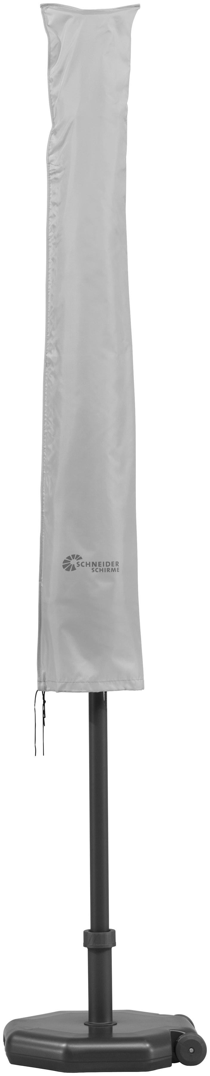 Schneider Schirme Schutzplane 833-00, für bis Ø 400 cm grau Sonnenschirme -segel Gartenmöbel Gartendeko