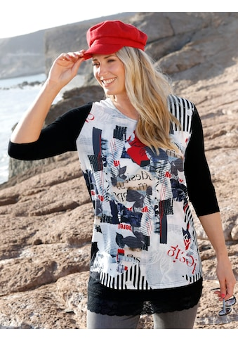 MIAMODA Print-Shirt, mit Materialmix kaufen