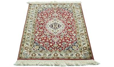 morgenland Teppich »Kaschmir Seide Teppich handgeknüpft rot«, rechteckig, 8 mm Höhe kaufen