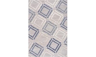 Sanat Teppich »Evra 7006«, rechteckig, 22 mm Höhe, Kurzflorteppich mit Hoch Tief Struktur kaufen