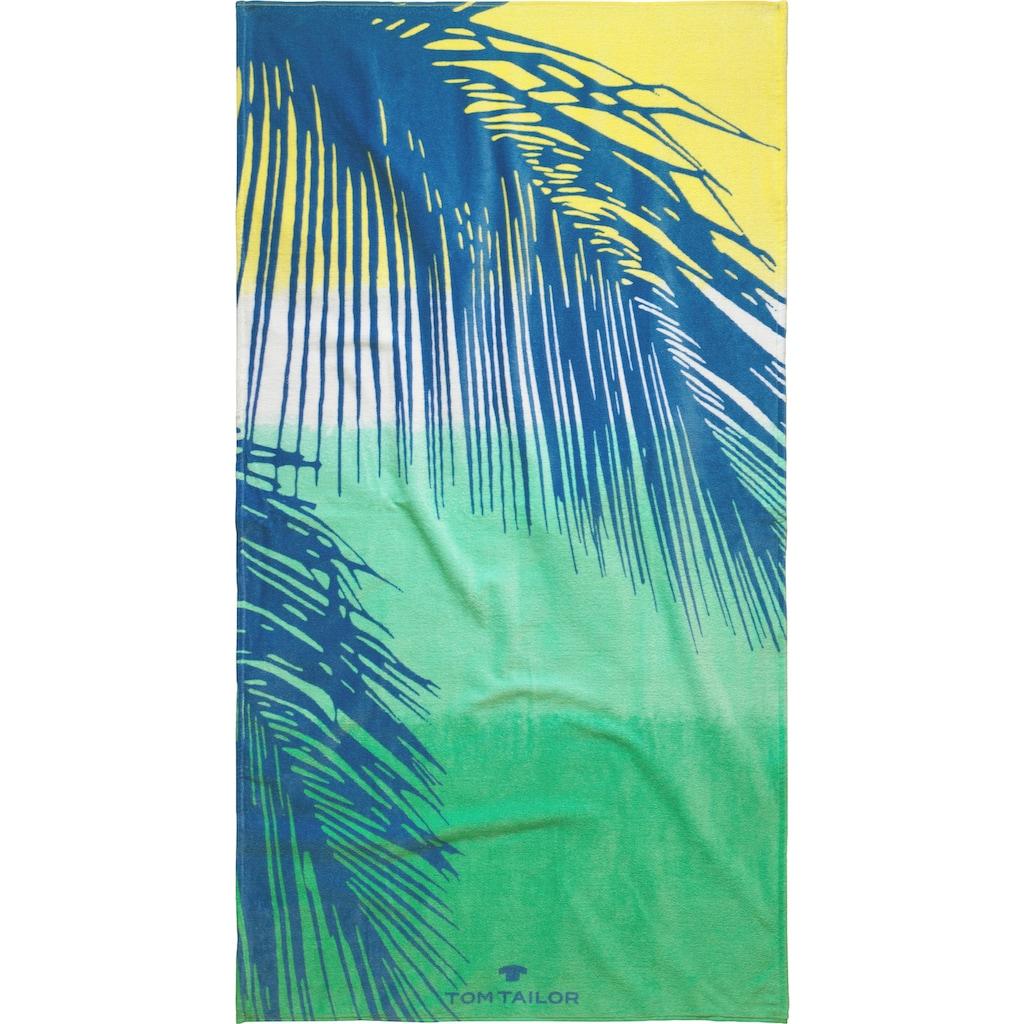 TOM TAILOR Strandtuch »Palmblätter«, (1 St.), mit trendigem Motiv