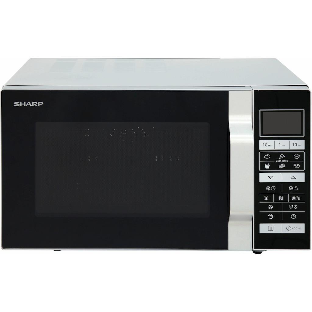Sharp Mikrowelle »R860S«, Grill und Heißluft, 900 W
