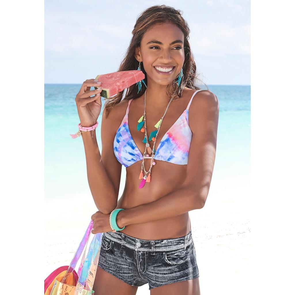 KangaROOS Triangel-Bikini, mit Batik-Design