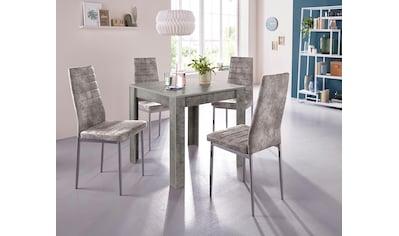Essgruppe, (Set, 5 tlg.), mit Esstisch »Lynn«, Breite 80 cm und 4 x Stuhl »Kate« kaufen