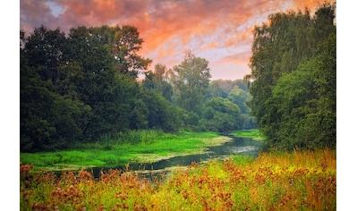 Papermoon Fototapete »Sunset River«, Vliestapete, hochwertiger Digitaldruck kaufen