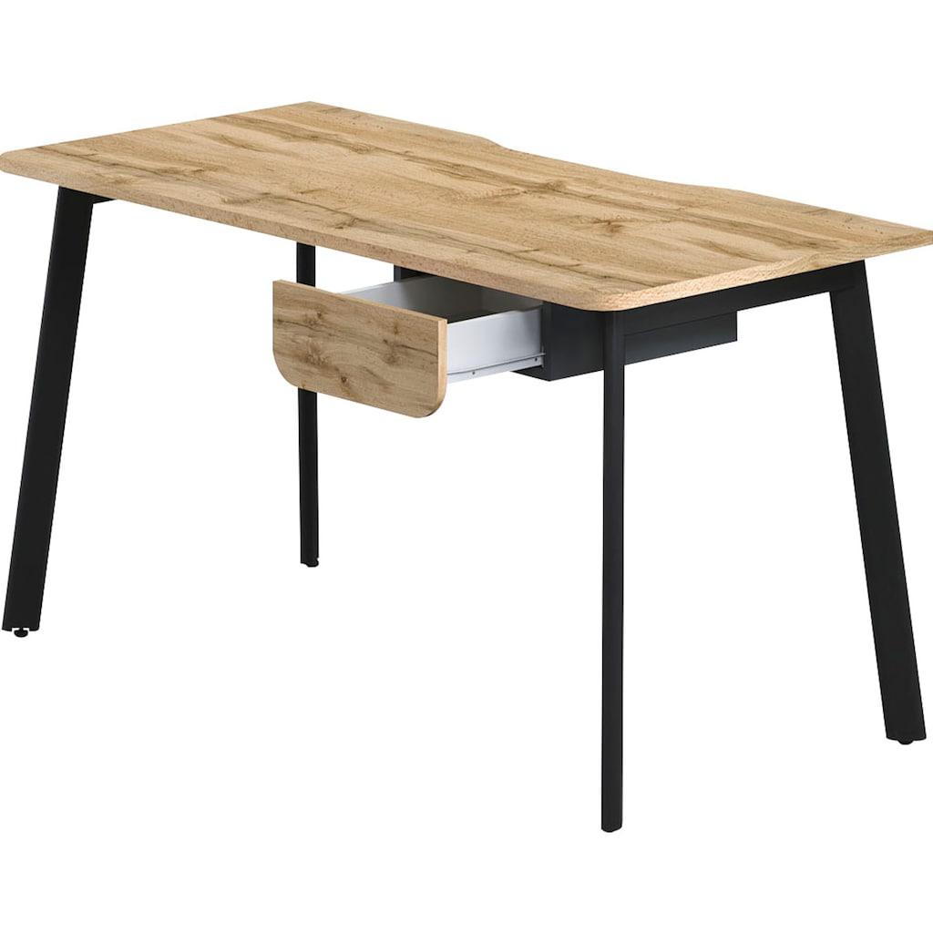 """Schreibtisch »Tes«, Schreibtisch """"Tes"""" mit 1 Schublade, wahlweise links/rechts montierbar"""