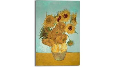 Reinders! Holzbild »Van Gogh - sunflowers«, (1 St.) kaufen