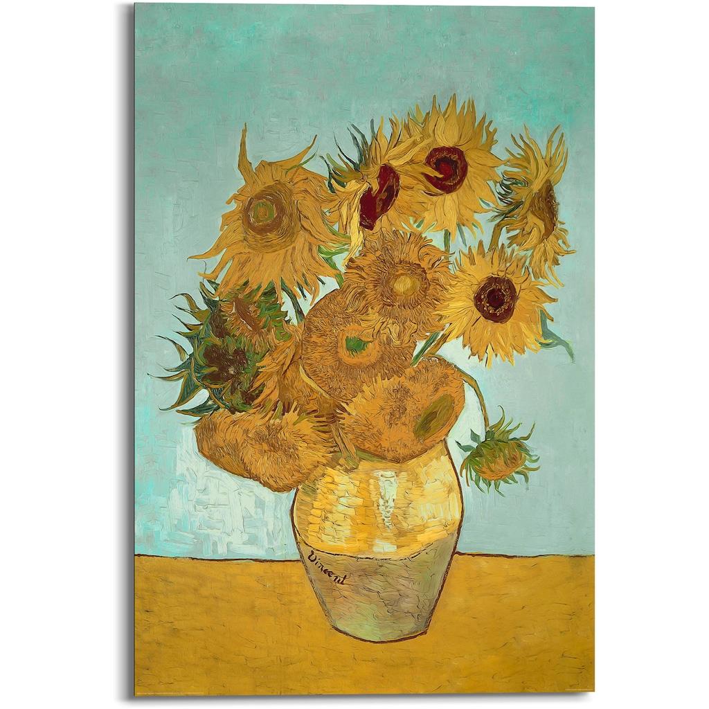 Reinders! Holzbild »Van Gogh - sunflowers«, (1 St.)