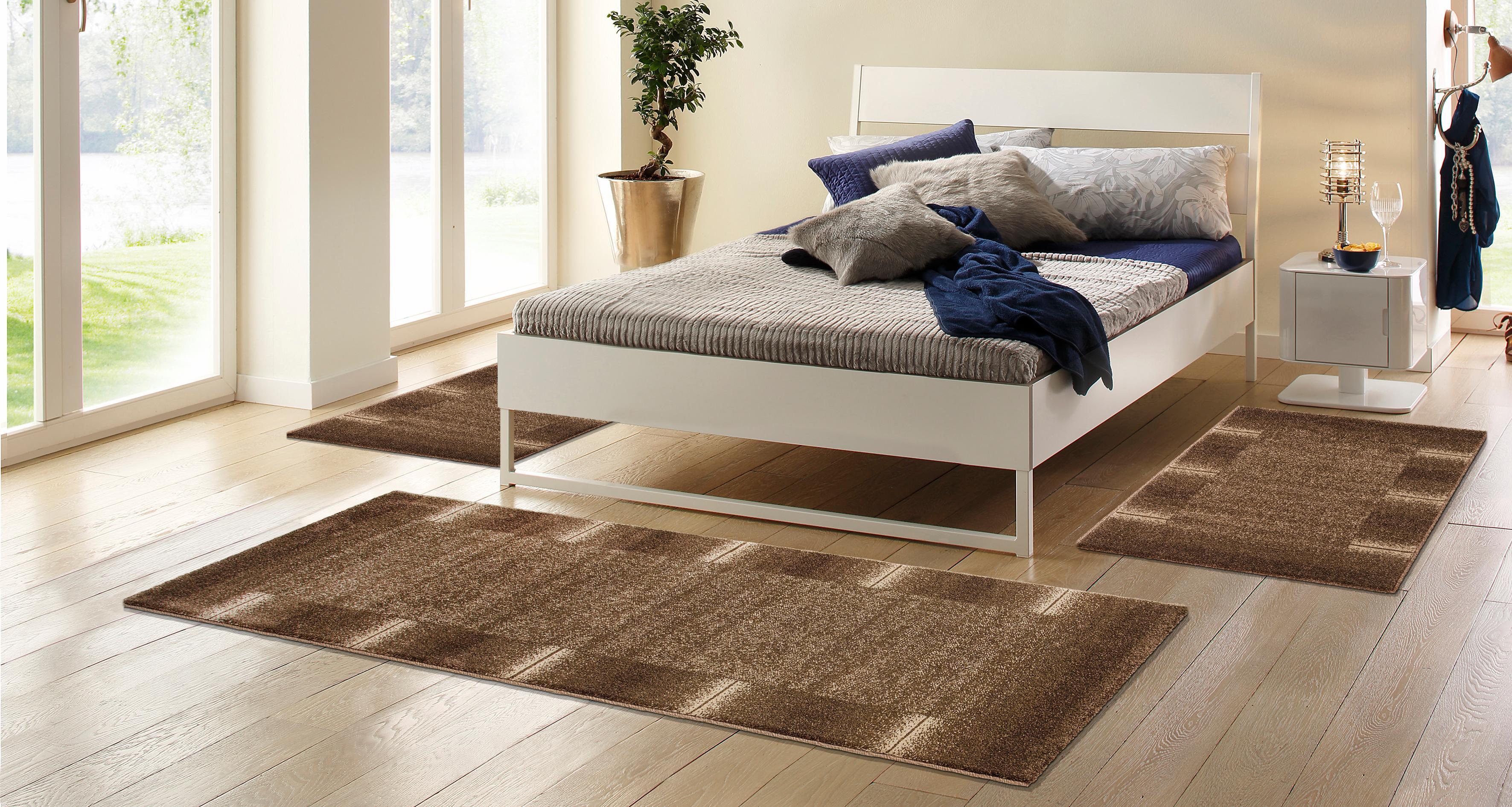 my home Bettumrandung Oriol, mit Bordüre grau Bettumrandungen Läufer Teppiche