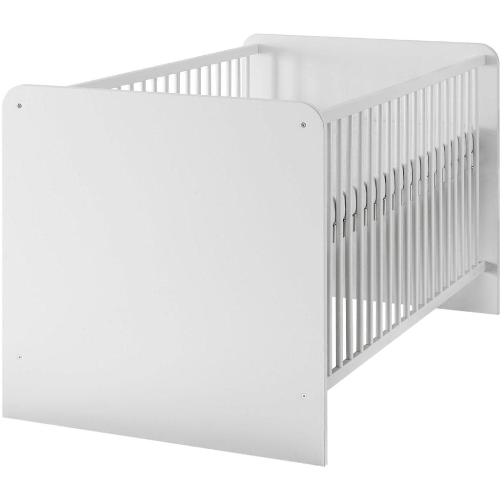 Babyzimmer-Komplettset »Bibo«, (Set, 3 St.), Bett + Wickelkommode + 2-trg. Schrank