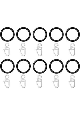 LICHTBLICK ORIGINAL Gardinenring, (Set, 10 St., mit Faltenlegehaken), für... kaufen