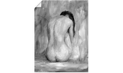 Artland Wandbild »Figur in schwarz & weiß II«, Frau, (1 St.), in vielen Größen &... kaufen