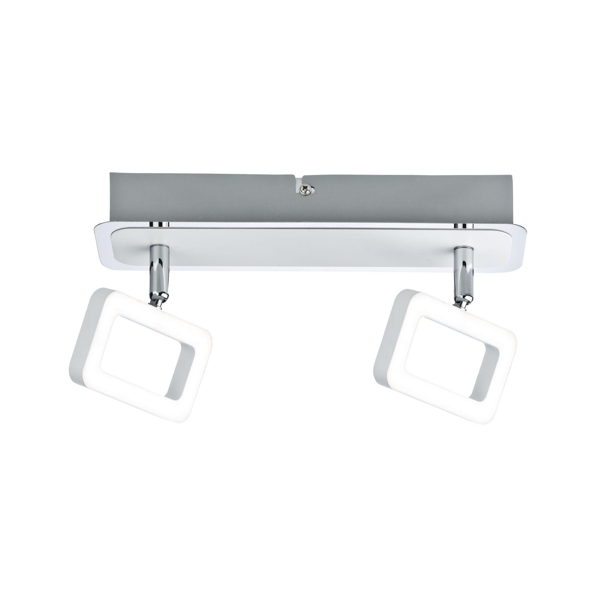Paulmann LED Deckenleuchte Spot Weiß/Chrom Frame inkl. Leuchtmittel 2x4,5W, 1 St., Warmweiß