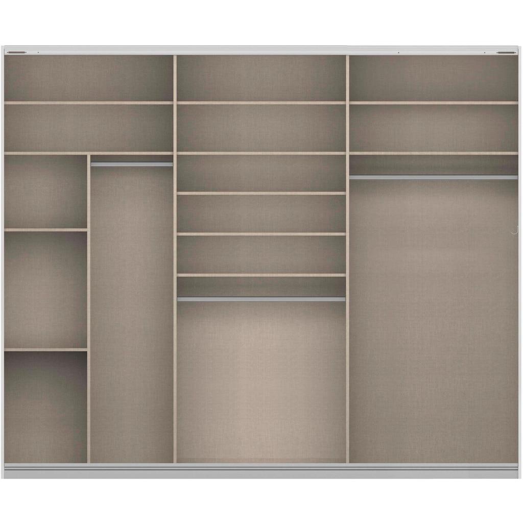 rauch ORANGE Schwebetürenschrank »Quadra«, inkl. Wäscheeinteilung und zusätzlichen Einlegeböden