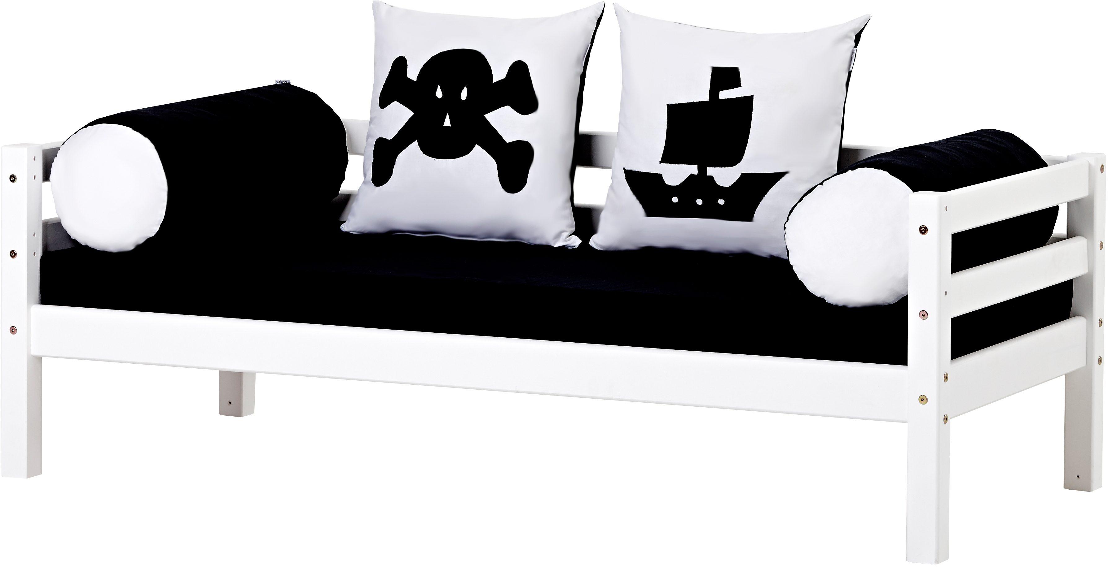 Hoppekids Piratenbett Pirat, inkl. Matratze und Rollrost weiß Kinder Kinderbetten Kindermöbel