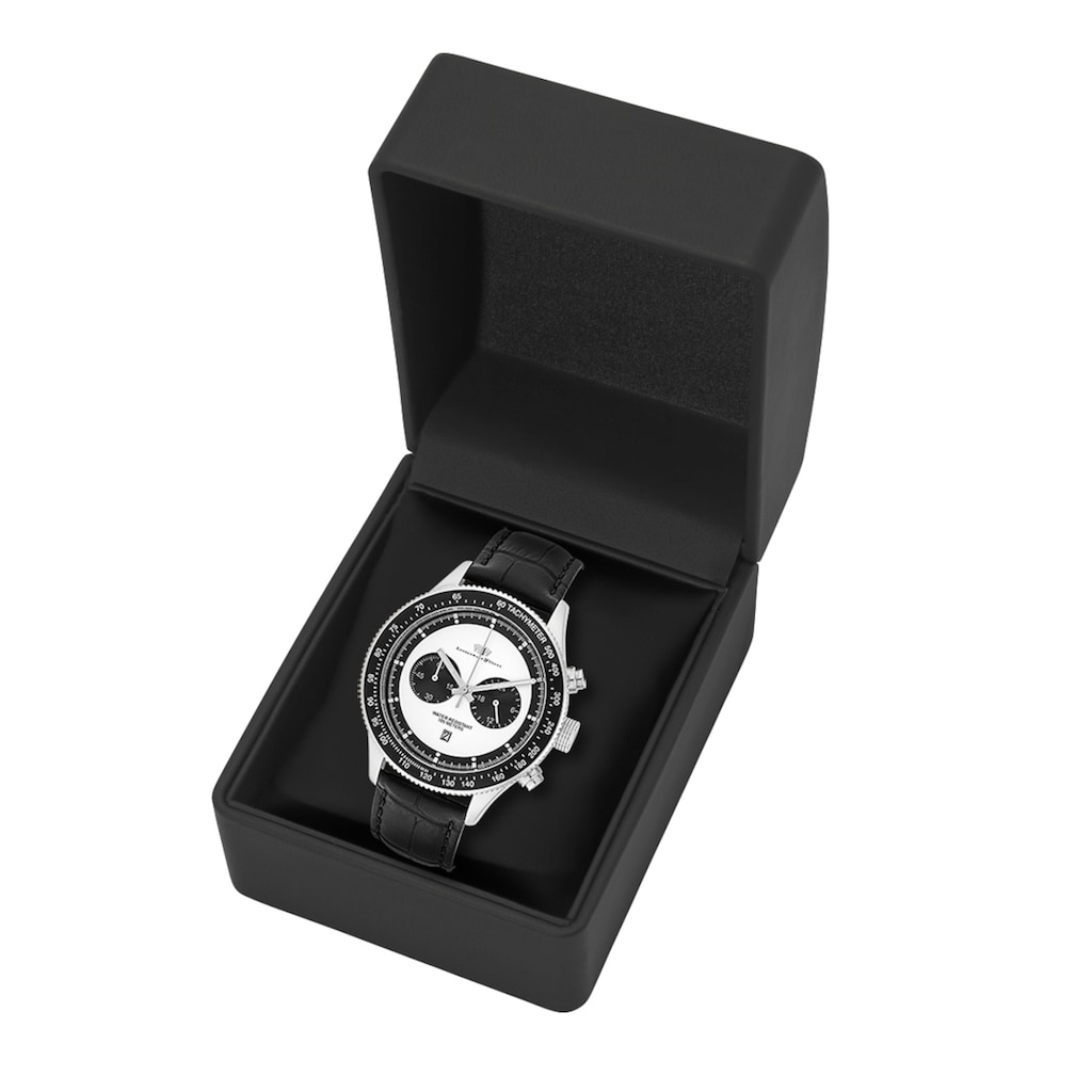 Rhodenwald & Söhne Chronograph »RWS023«, (1 tlg.), Armband aus Echtleder