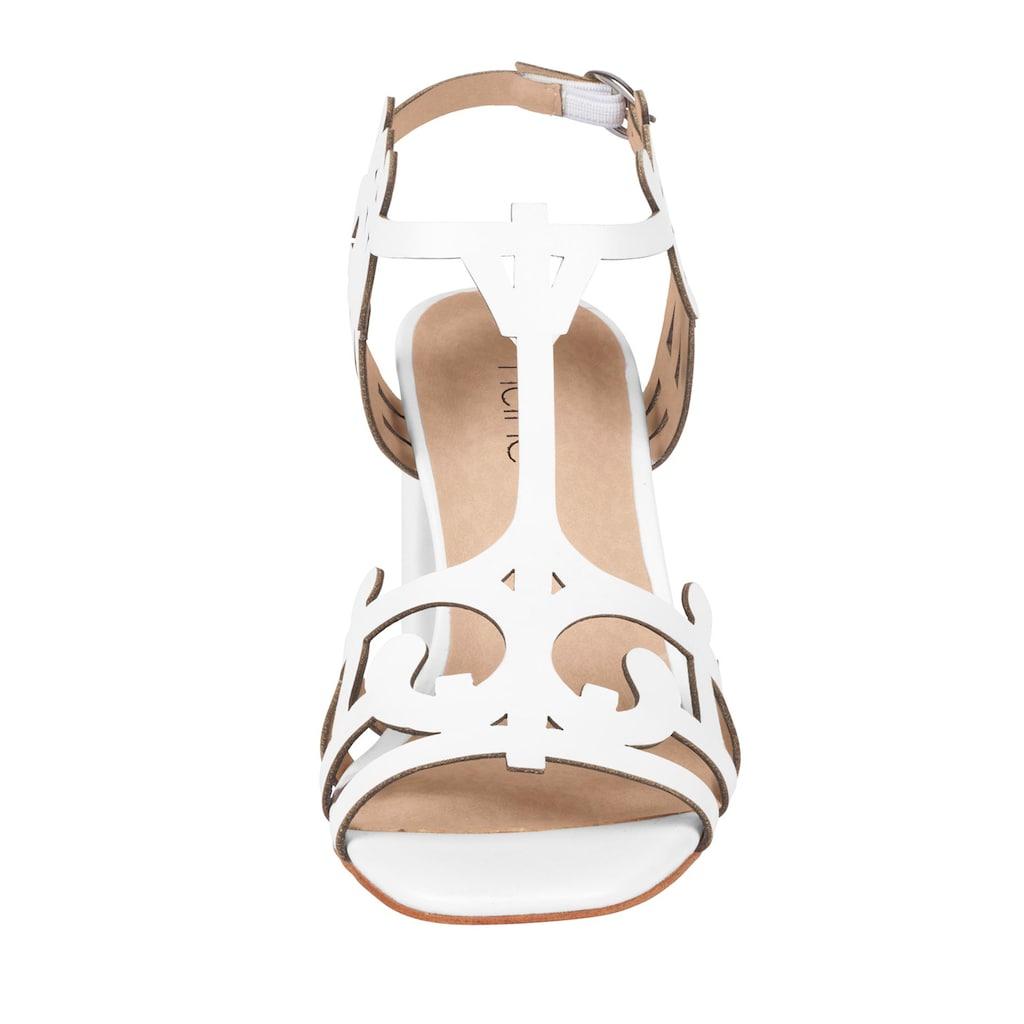 Sandalette mit filigranem Muster