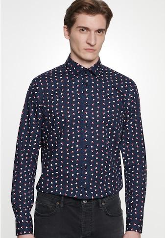 seidensticker Businesshemd »Slim«, Slim Langarm Covered-Button-Down-Kragen Floral kaufen