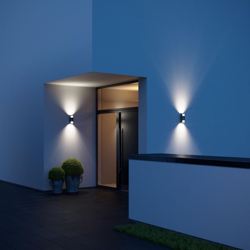 steinel Außen-Wandleuchte »L 920 LED«, LED-Board, 1 St., Warmweiß, 140° Erfassungsbereich, max. 12 m Reichweite, Zeiteinstellung von 120 Sek. - 15 Min., Grundlichtfunktion, 4h Dauerlicht, Softlichtstart, per Kabel vernetzbar, Gehäuse aus Aluminium