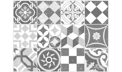 Contento Platzset »Mosaik, grau«, (Set, 4 St.), für innen und außen geeignet,... kaufen