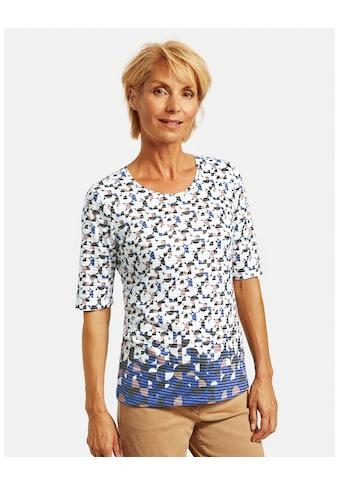 GERRY WEBER Kurzarmshirt »Shirt mit Ausbrennermuster« kaufen